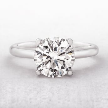 3.00ct Solitaire Diamond Platinum Ring