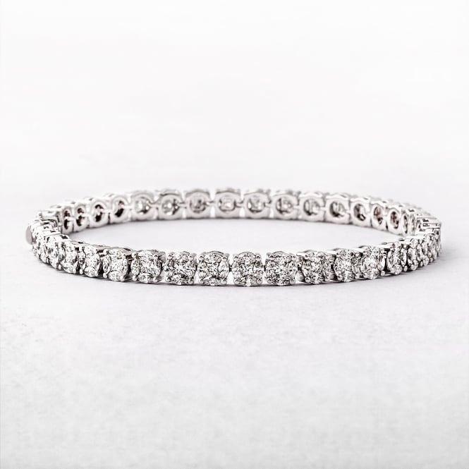 5.23ct Multi Stone Diamond Line Bracelet
