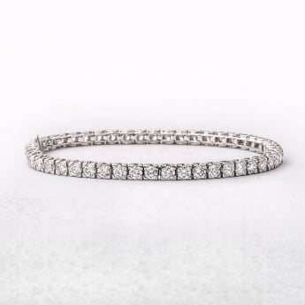 6.74ct Fifty Round Brilliant Cut Diamond Tennis Bracelet