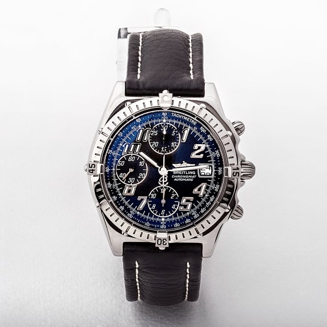A13050.1 Breitling Chronomat with Black Dial and Black Strap