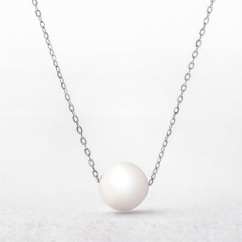 Akoya Pearl 9ct White Gold Pendant on a 18
