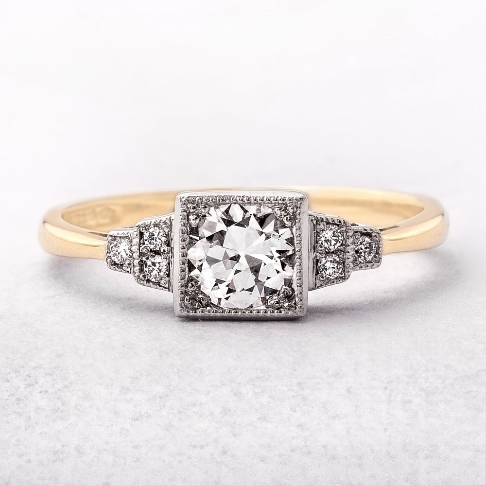 deco style engagement ring