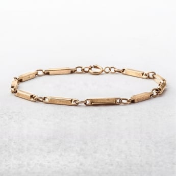 Bar Style 9ct Yellow Gold Vintage Bracelet