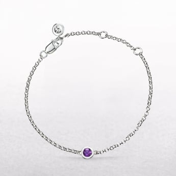 Birthstone Amethyst Bracelet for February