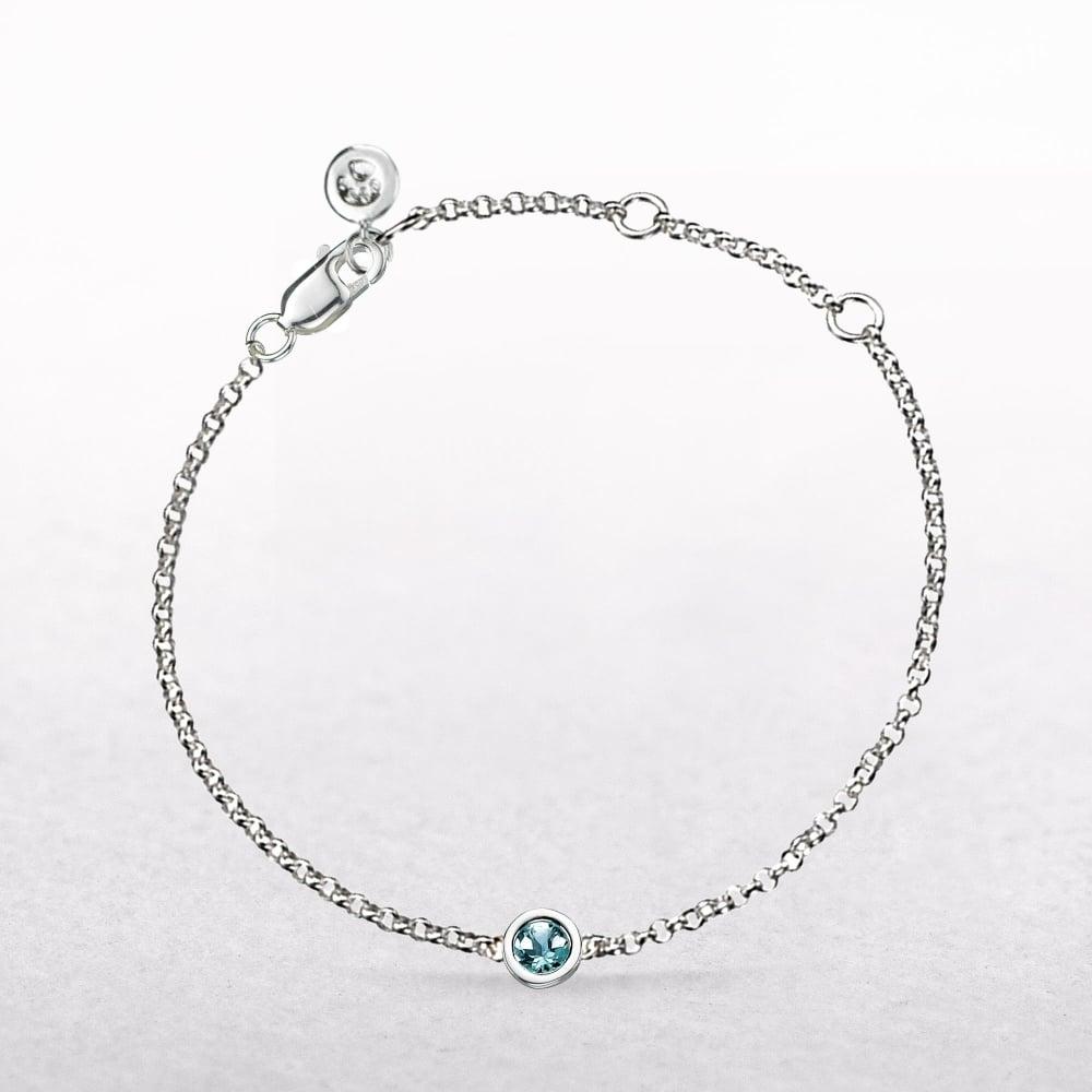 260c9e4bbbd48 Birthstone Aquamarine Bracelet for March