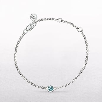 Birthstone Aquamarine Bracelet for March