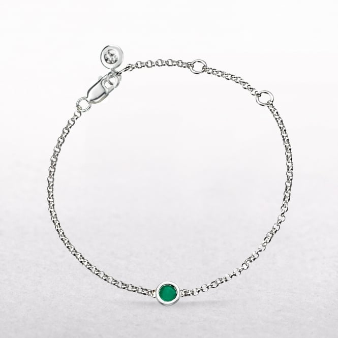 Birthstone Emerald Bracelet for May