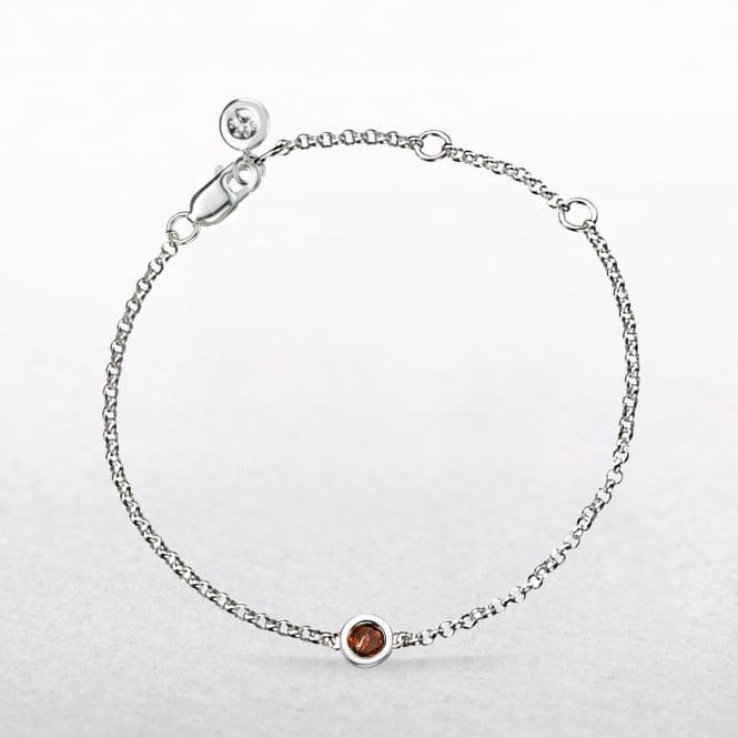 Birthstone Garnet Bracelet for January