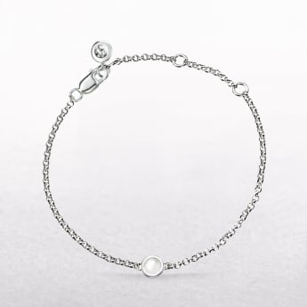 Birthstone Pearl Bracelet for June