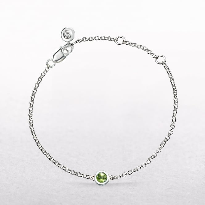 Birthstone Peridot Bracelet for August