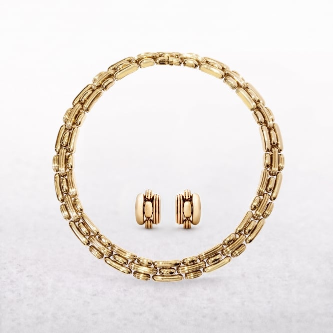 Boucheron Demi Parure of Necklace & Earrings 18ct Yellow Gold
