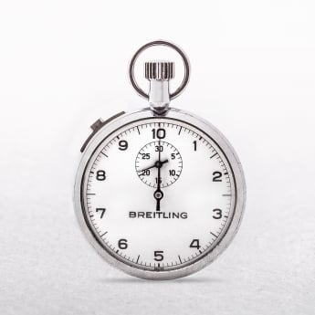 Breitling Vintage Stop Watch with White Dial