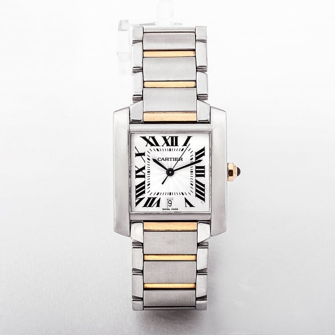 Cartier 28mm Tank Francaise Gents Automatic Two Tone Watch