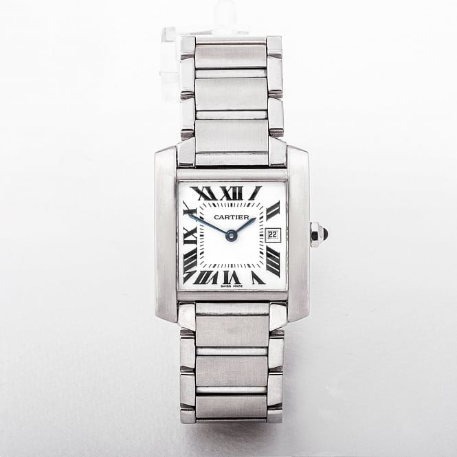 Cartier Tank Francaise Mid-Size 2000 Certified Watch in Stainless Steel