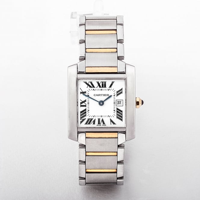 Cartier Tank Francaise Mid-Size Watch on Two Tone Bracelet