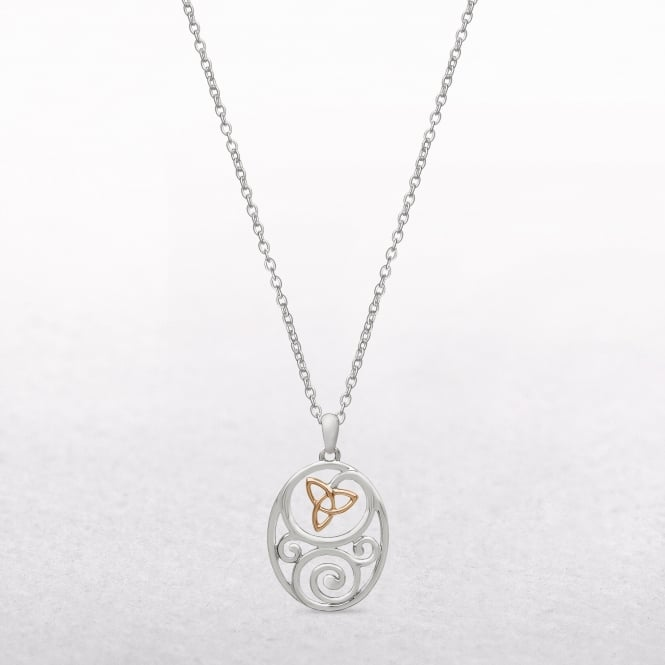 Celtic Trinity Knot Sterling Silver & Rose Gold House of Lor Pendant