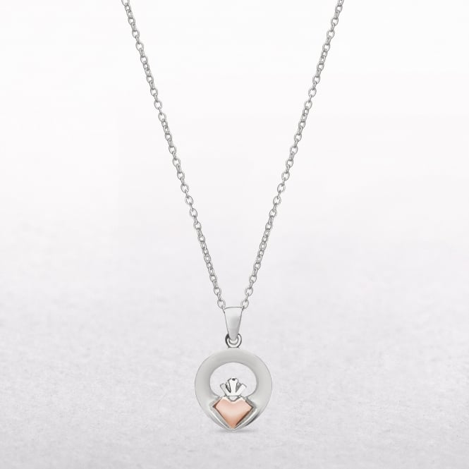 Claddagh Silver & Rose Gold House of Lor Pendant