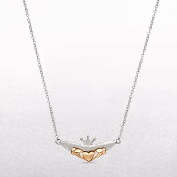 Claddagh Sterling Silver & Rose Gold House of Lor Necklace