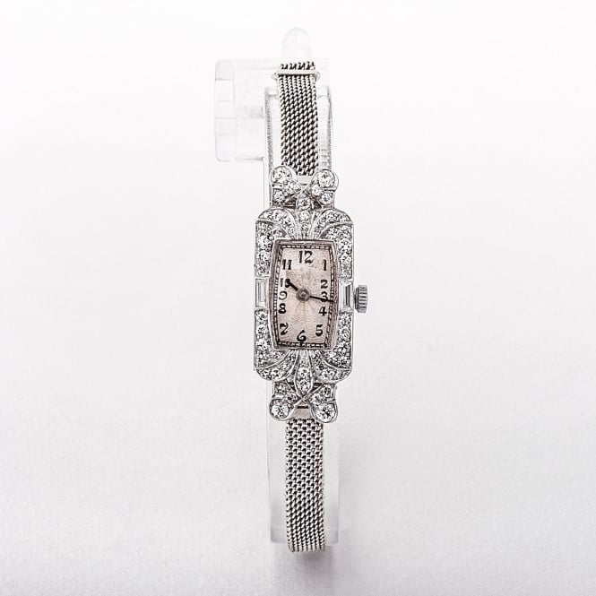 Cocktail Watch Made of Platinum & Diamond