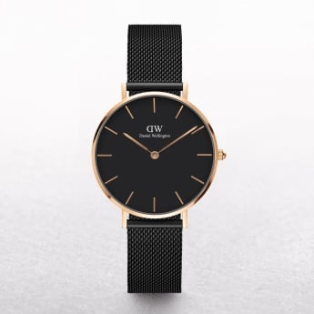 Daniel Wellington Classic Petite Ashfield Black Dial Watch