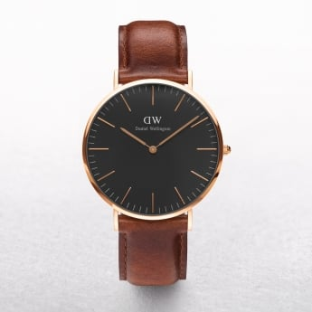 Daniel Wellington Classic St Mawes Black Dial Watch