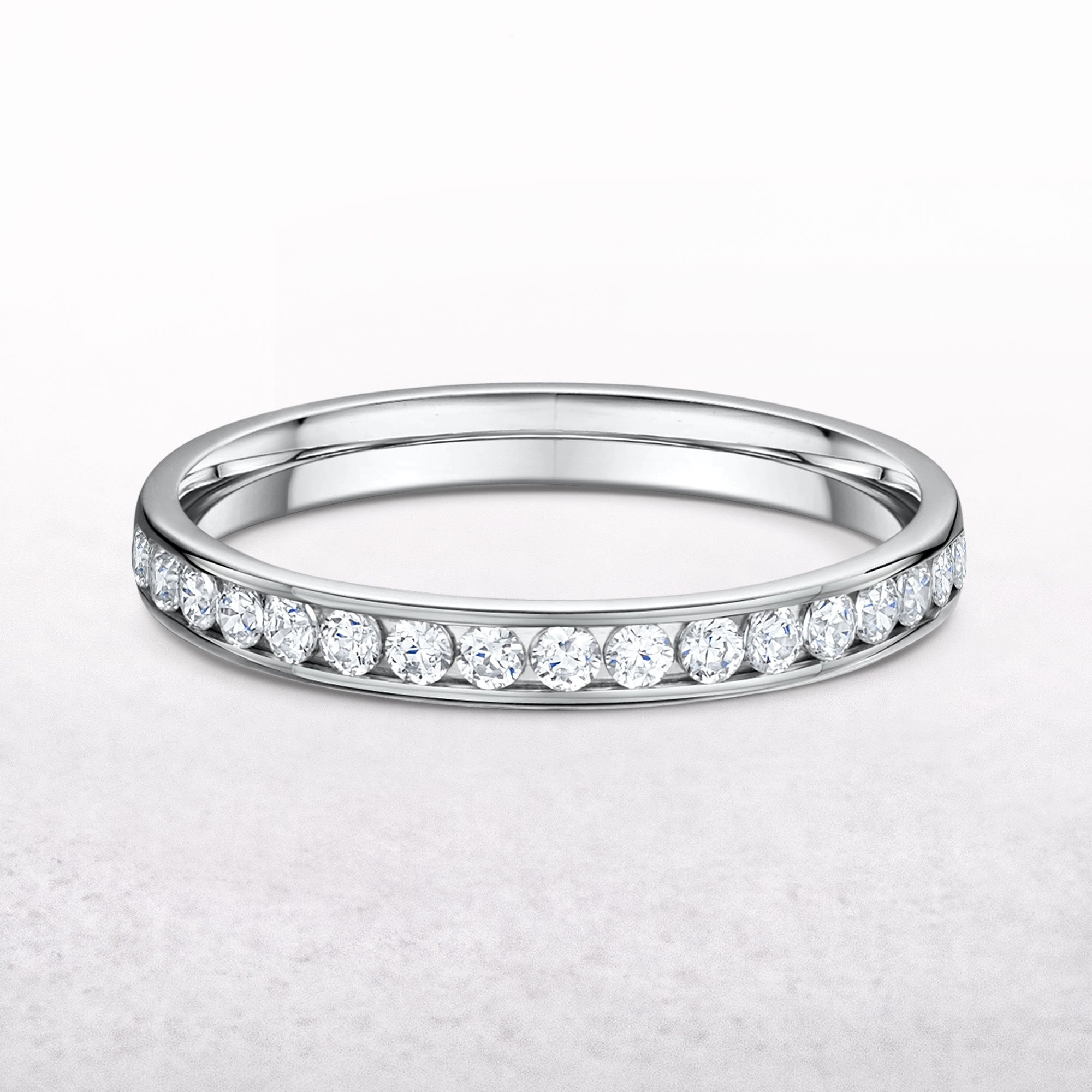 This is a picture of Diamond 43.43ct 43.43mm Channel Set Platinum Wedding Ring