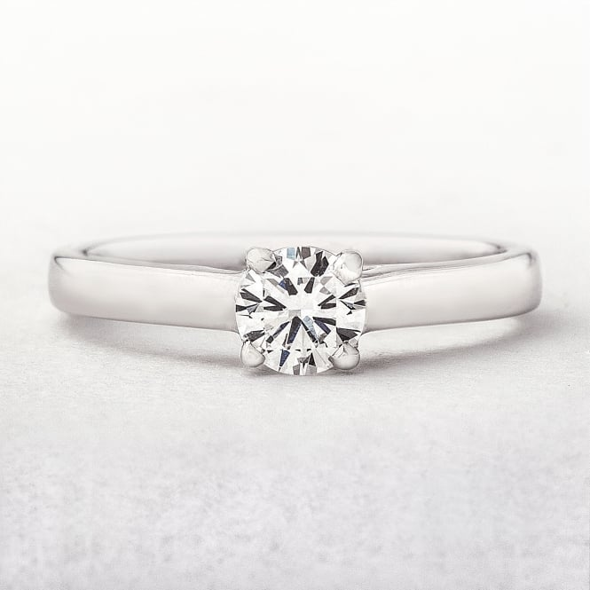 Diamond 0.34ct White Gold Solitaire Engagement Ring