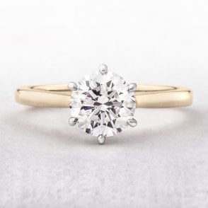 Diamonds 1 10ct F / VS2 GIA Certified Round Solitaire with Pear