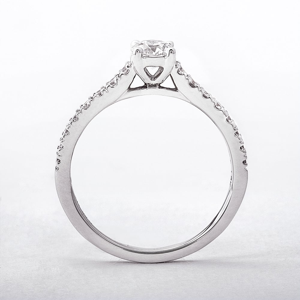 solitaire diamond cut princess jewellery ring