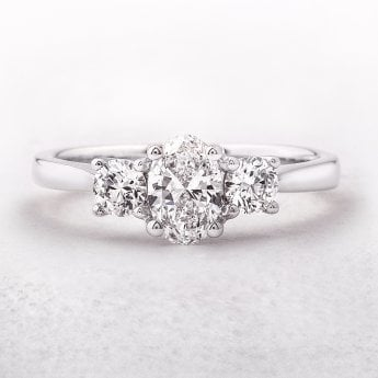 Three Stone Diamond Rings - Brereton Jewellers