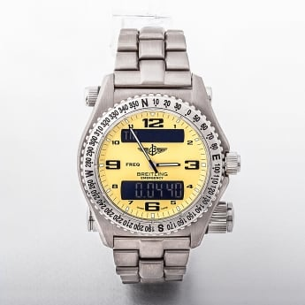 E56321 Breitling Emergency Pro I with Yellow Dial from 1999.