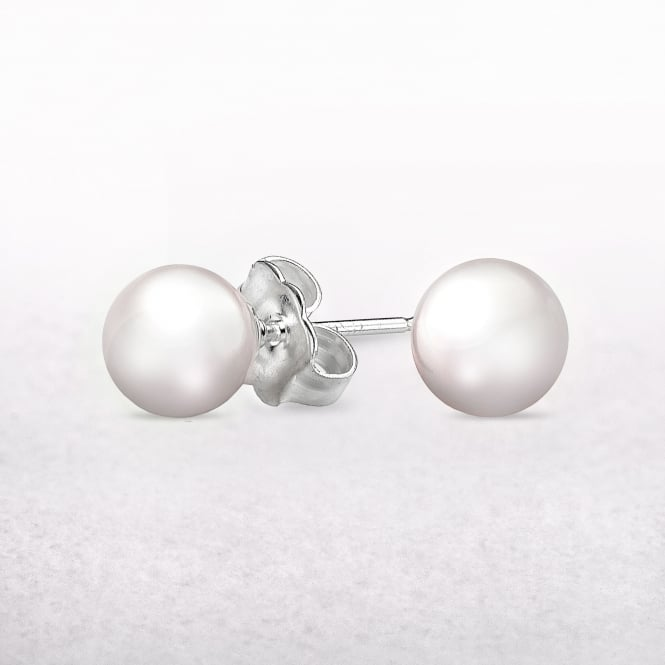 Freshwater Pearl Molly Brown Stud Earrings