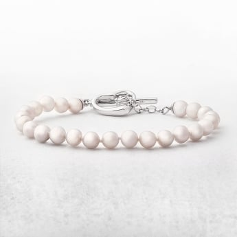 Freshwater Pearls Silver Bracelet With Heart Catch