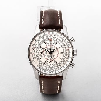 Gents '07 Breitling Navitimer Montbrillant Datora Chronometre in Stainless Steel with Cream Dial on