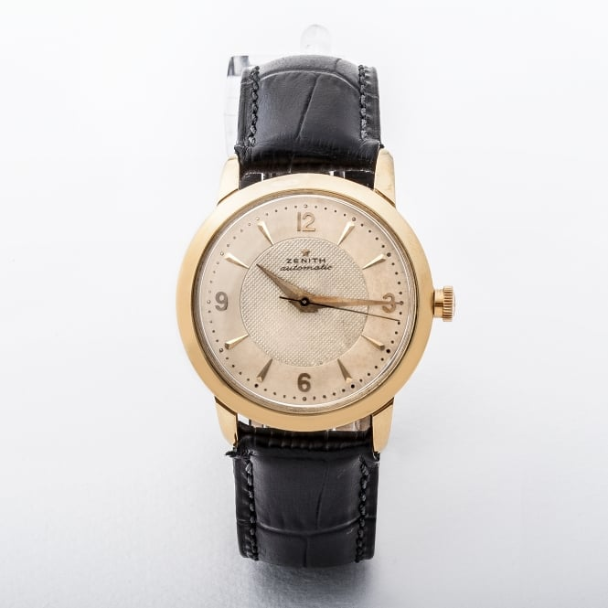 Gents 18ct Vintage Zenith Automatic Bumper Watch