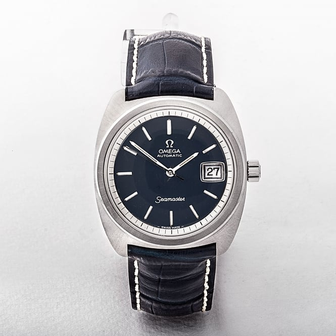 Gents 1972 Omega Seamaster Watch with Blue Dial