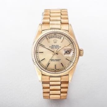 Gents 1981 Rolex Oyster Perpetual Yellow Gold Watch