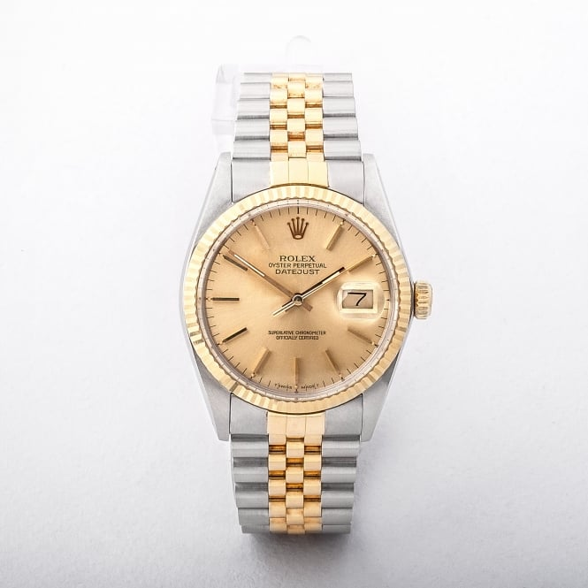 Gents 1985 Rolex Date Just on Bi Colour Jubilee Bracelet