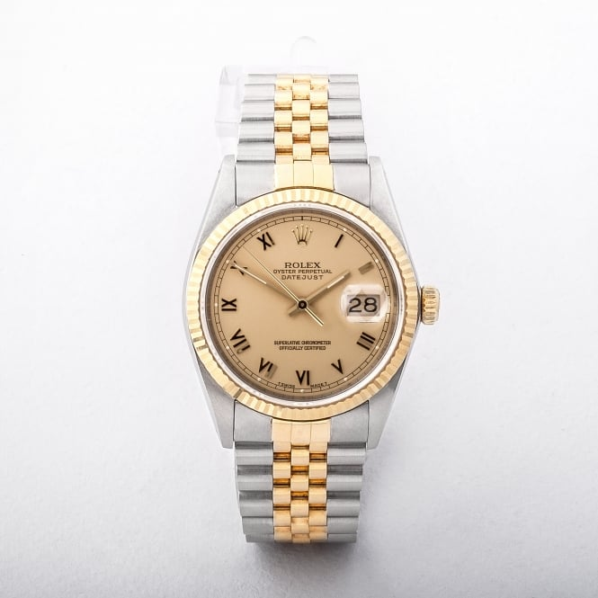 Gents 1995 Rolex Oyster Perpetual Datejust with 18ct yellow gold and stainless steel jubilee bracele