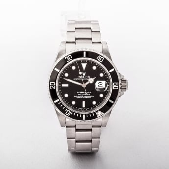Gents 2005 Rolex Submariner with Black Dial Stainless Steel Oyster Bracelet with Original Rolex pap