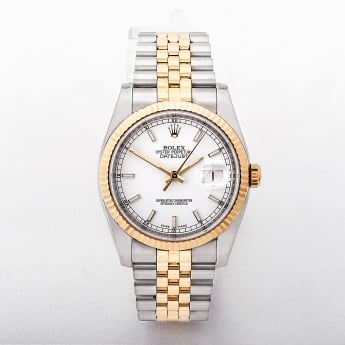 Gents 2011 Rolex Oyster Perpetual Datejust Two Tone Watch
