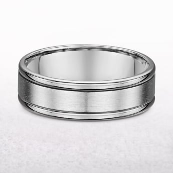 Gents 6.5mm Fancy Platinum Wedding Band