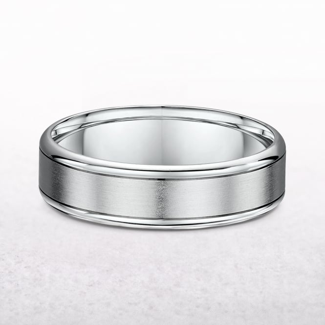 Gents 6.5mm Palladium Wedding Band