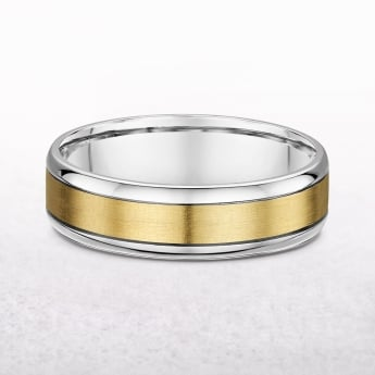 Gents 6.85mm Yellow Gold Wedding Band