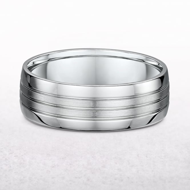 Gents 7mm Platinum Wedding Band