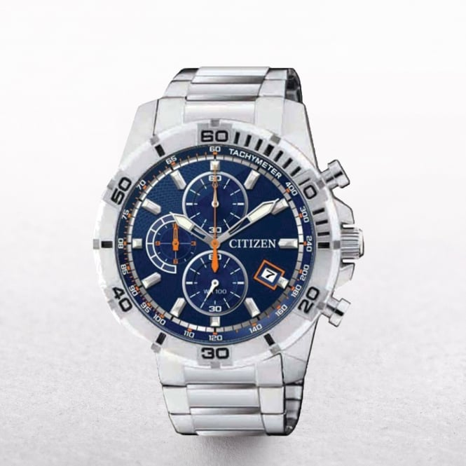 Gents Citizen Chronogrph & Tachymeter with Blue Dial