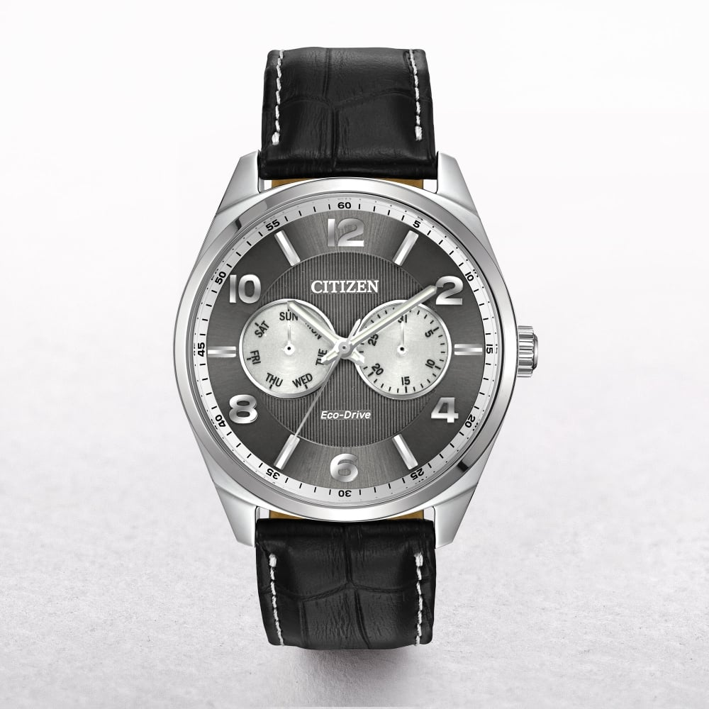 2e66f2fee50 gents-citizen-eco-drive-grey-date-day -dial-on-a-leather-strap-p813-1578 image.jpg