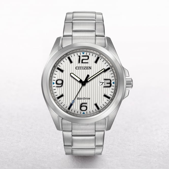 Gents Citizen Eco-Drive Stainless Steel Casual Sports Watch