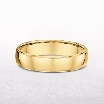 Gents Classic 5mm Yellow Gold Wedding Band