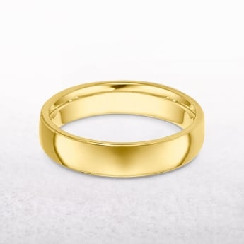Gents Classic 6mm Yellow Gold Wedding Band
